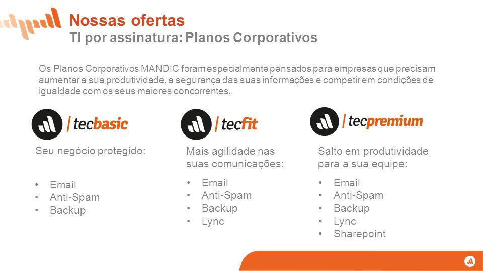 Nossas ofertas TI por assinatura: Planos Corporativos