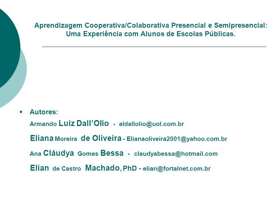 Eliana Moreira de Oliveira - Elianaoliveira2001@yahoo.com.br