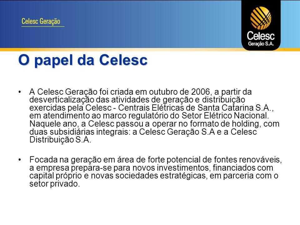 O papel da Celesc
