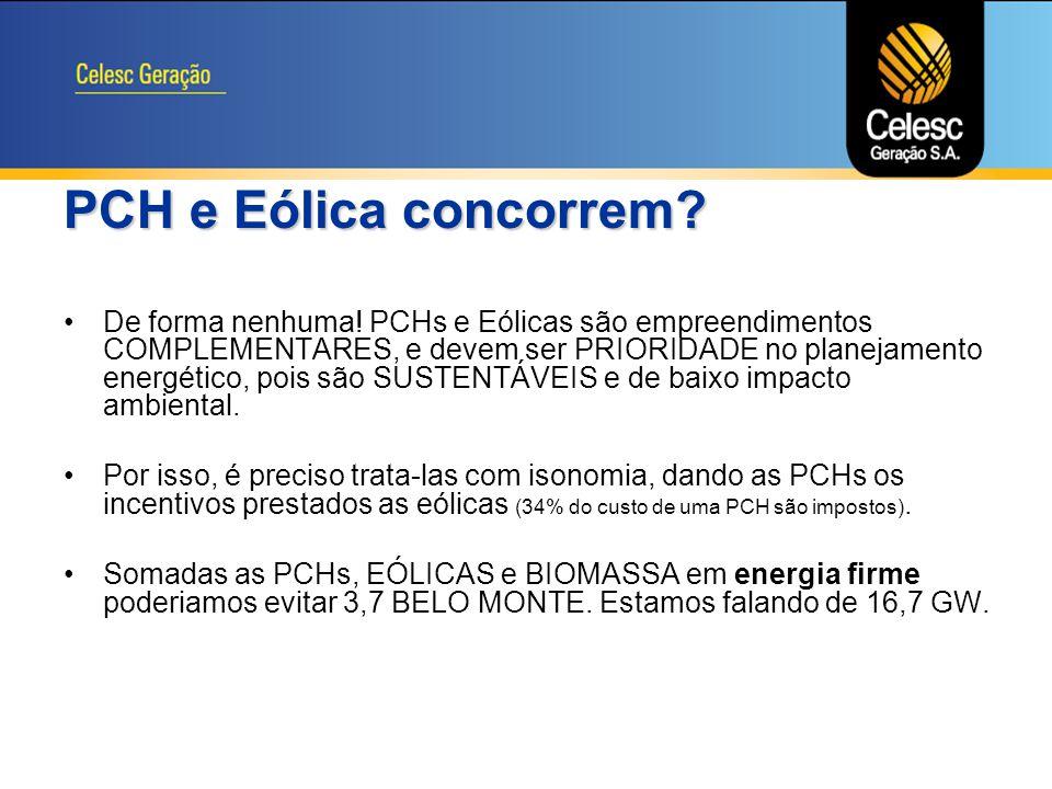 PCH e Eólica concorrem