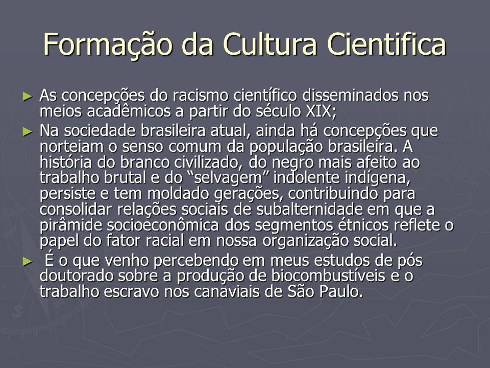 Formação da Cultura Cientifica