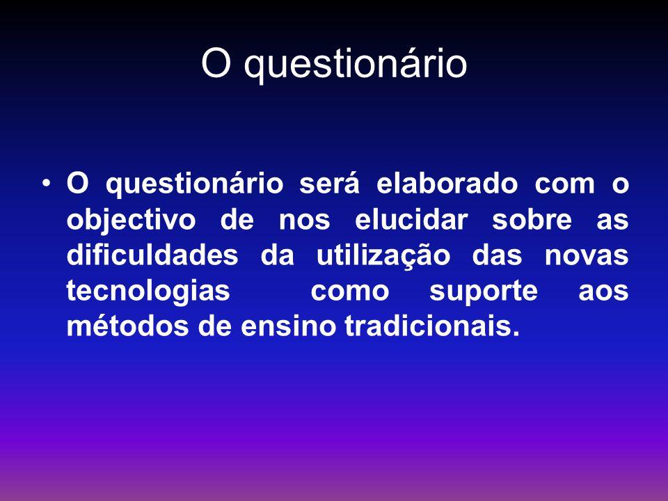O questionário