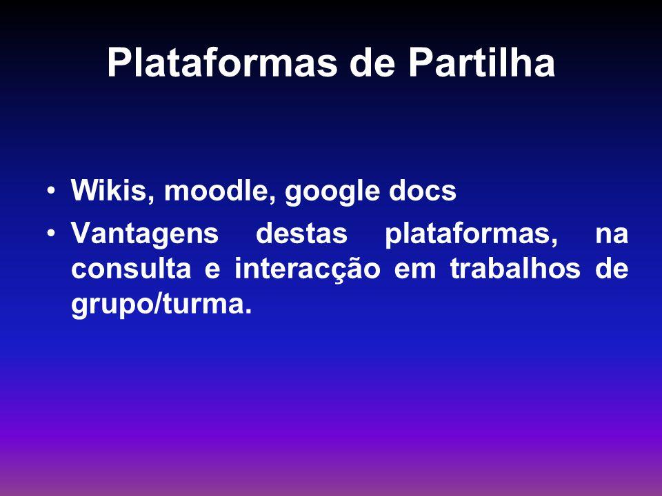 Plataformas de Partilha