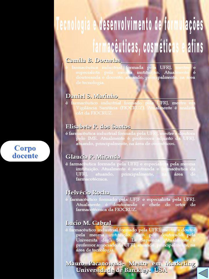 Tecnologia e desenvolvimento de formulações