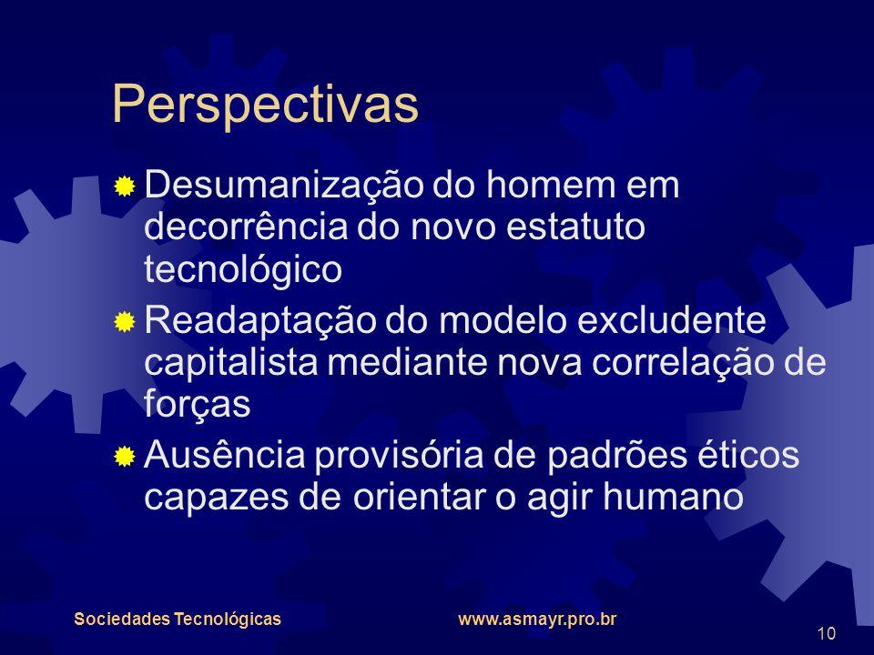 Perspectivas Desumanização do homem em decorrência do novo estatuto tecnológico.