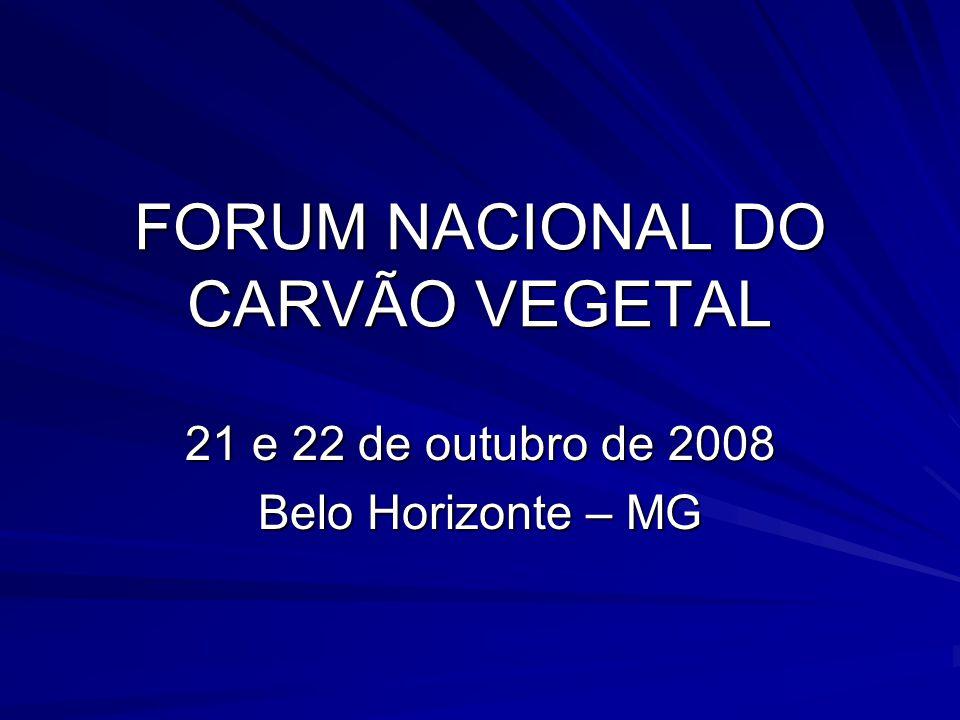 FORUM NACIONAL DO CARVÃO VEGETAL