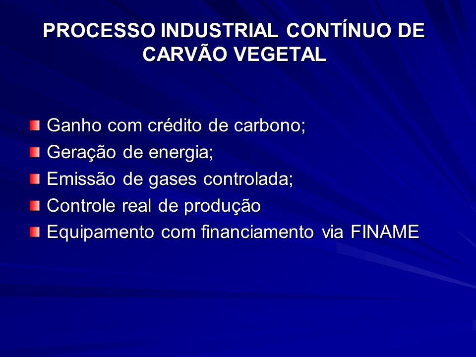 PROCESSO INDUSTRIAL CONTÍNUO DE CARVÃO VEGETAL