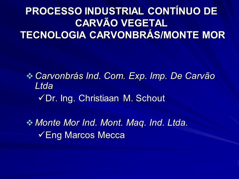 PROCESSO INDUSTRIAL CONTÍNUO DE CARVÃO VEGETAL TECNOLOGIA CARVONBRÁS/MONTE MOR