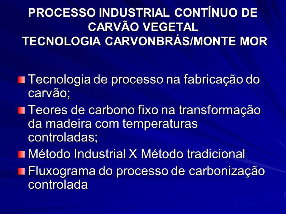 Tecnologia de processo na fabricação do carvão;