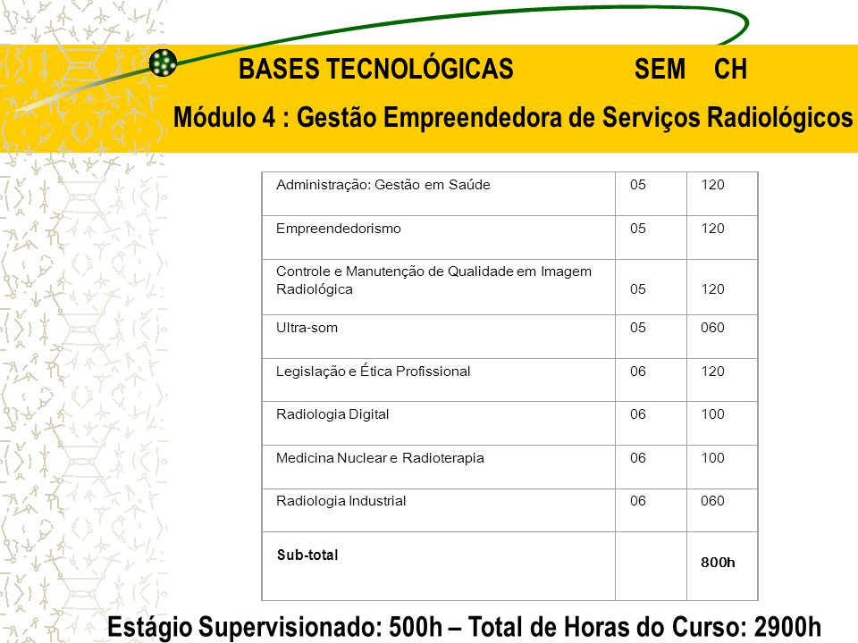 BASES TECNOLÓGICAS SEM CH