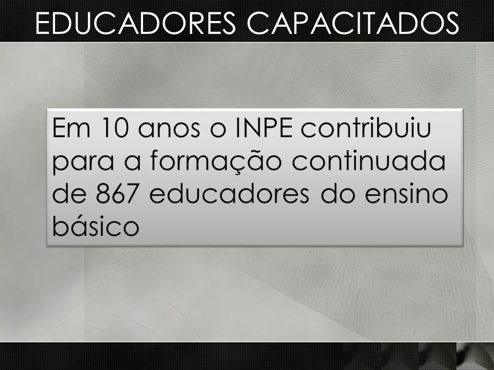 EDUCADORES CAPACITADOS