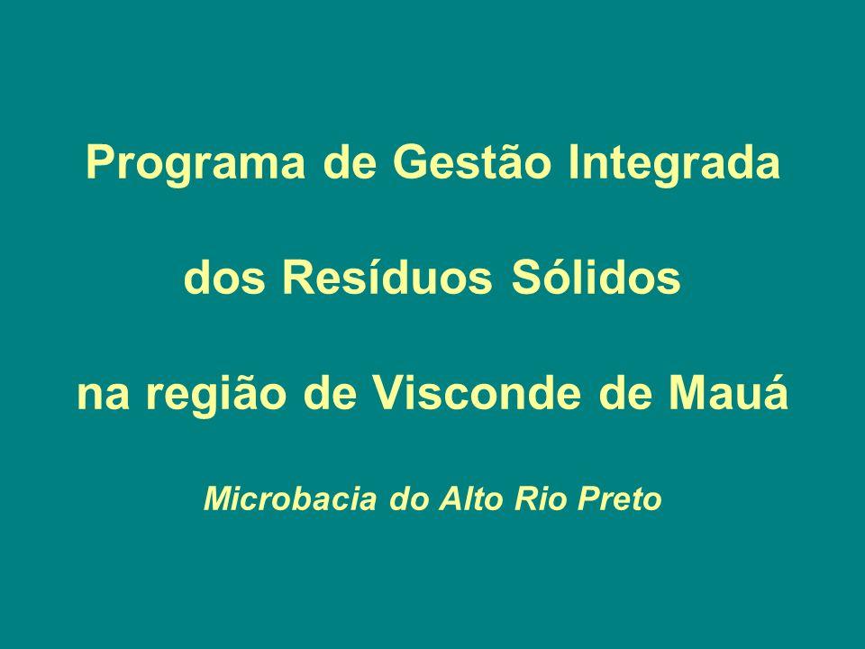 Programa de Gestão Integrada dos Resíduos Sólidos na região de Visconde de Mauá Microbacia do Alto Rio Preto