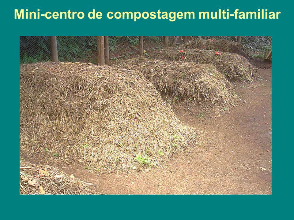 Mini-centro de compostagem multi-familiar