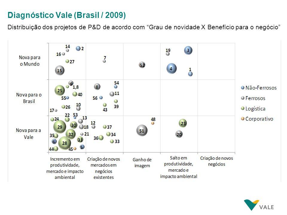 Diagnóstico Vale (Brasil / 2009) Características das redes de parceiros de CT&I