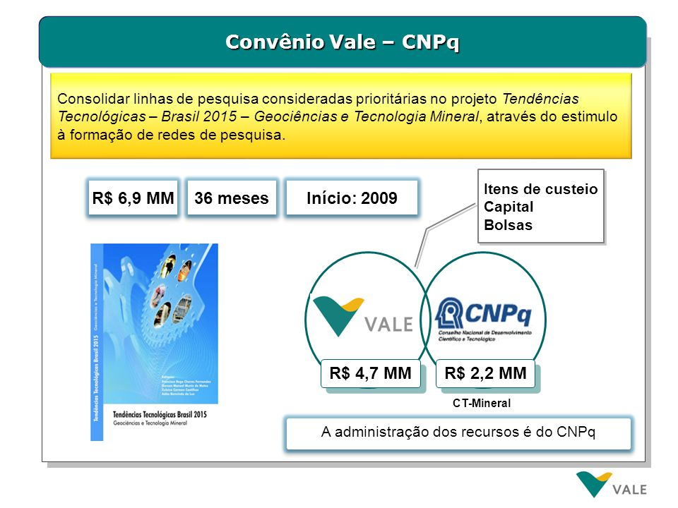 Convênio Vale – FAPs (Fundações de Amparo à Pesquisa)