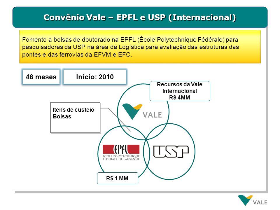 Convênio Vale – CNPq (Internacional)
