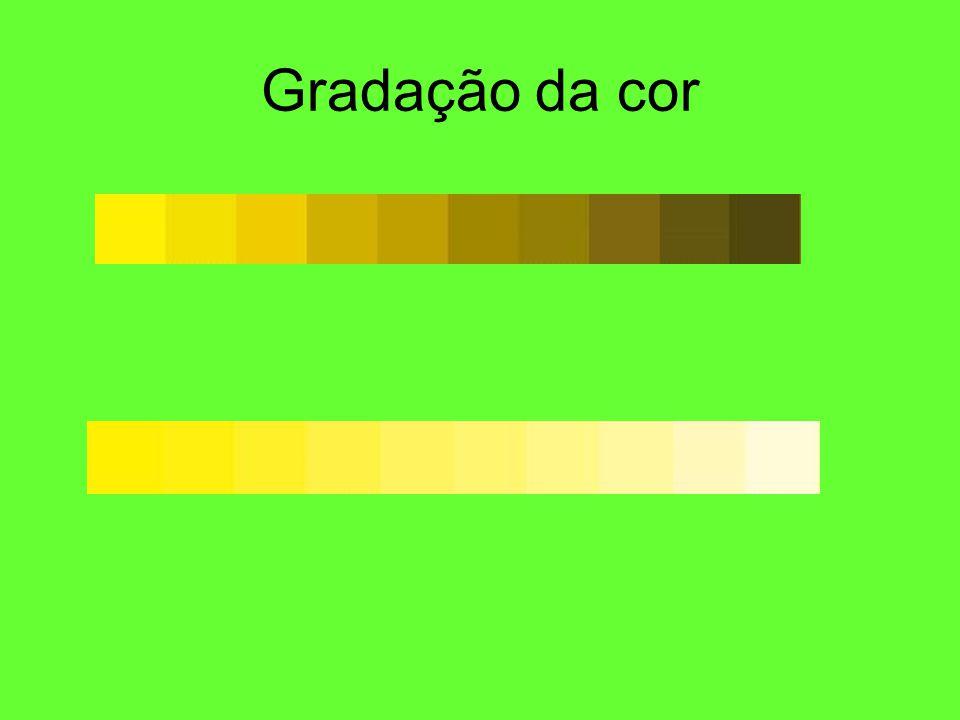 Gradação da cor