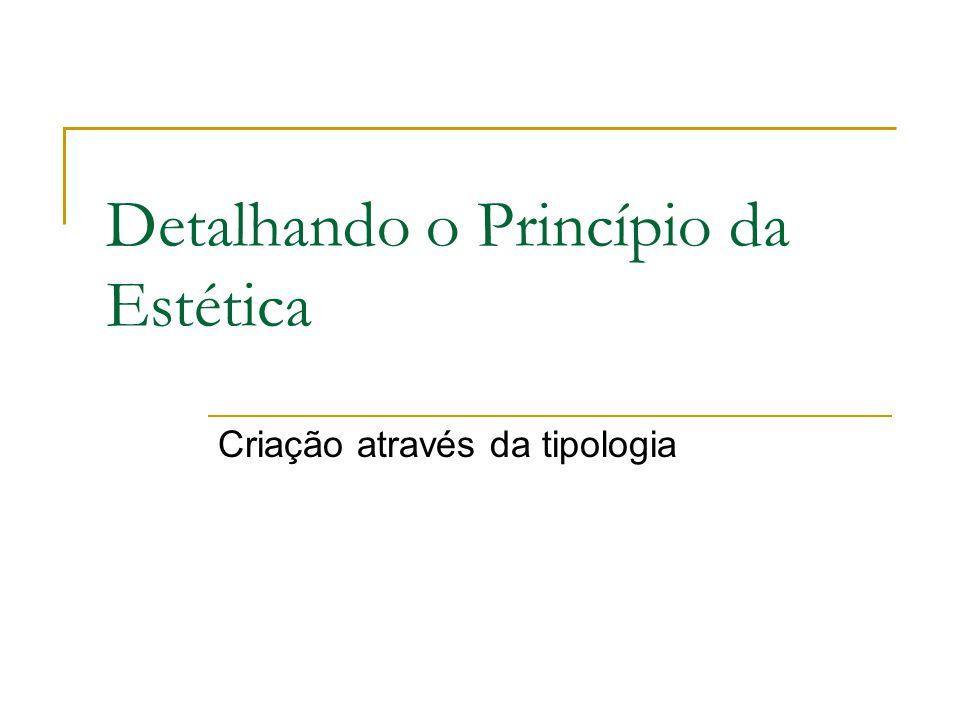 Detalhando o Princípio da Estética