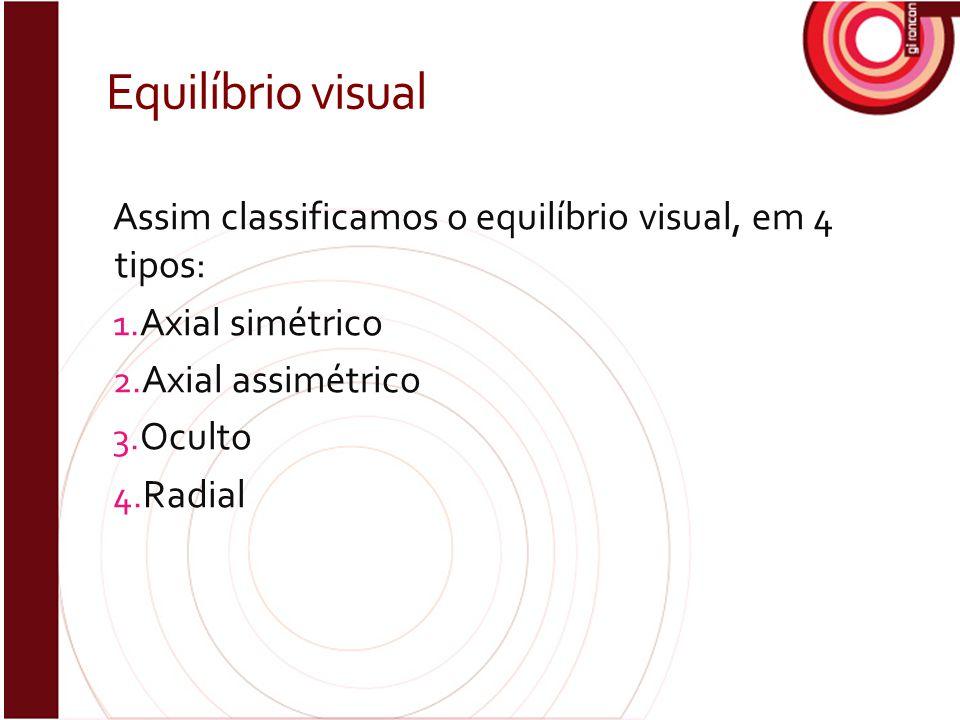 Equilíbrio visual Assim classificamos o equilíbrio visual, em 4 tipos:
