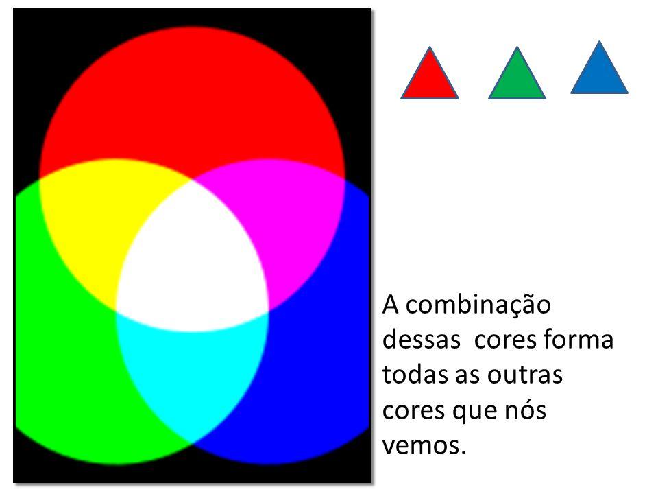 A combinação dessas cores forma todas as outras cores que nós vemos.