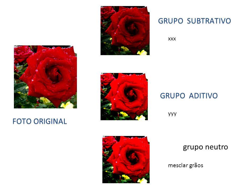 Grupo subtrativo Grupo aditivo Foto original grupo neutro xxx yyy