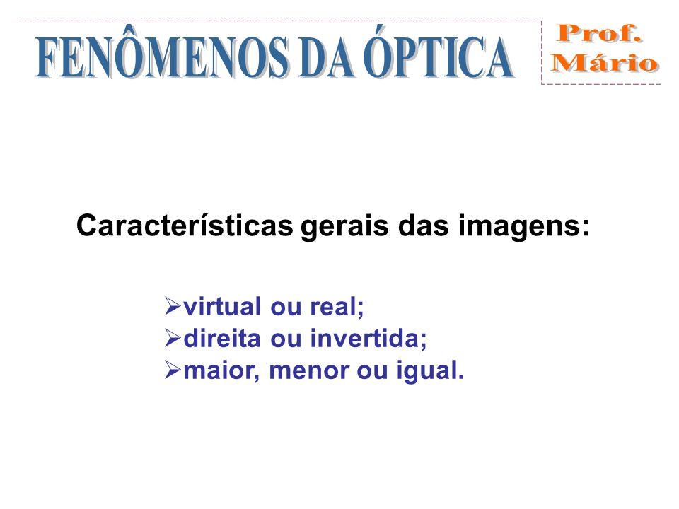 Características gerais das imagens: