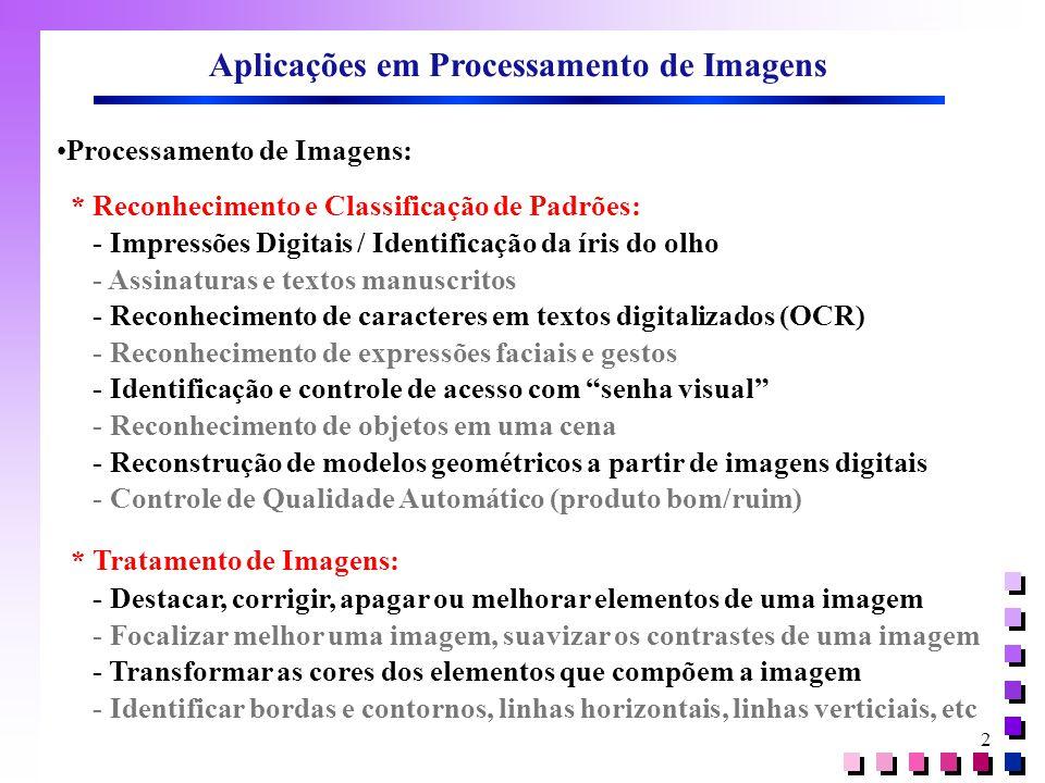 Aplicações em Processamento de Imagens