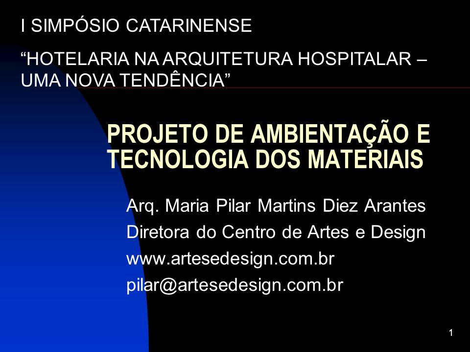 PROJETO DE AMBIENTAÇÃO E TECNOLOGIA DOS MATERIAIS