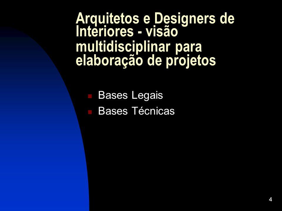 Arquitetos e Designers de Interiores - visão multidisciplinar para elaboração de projetos