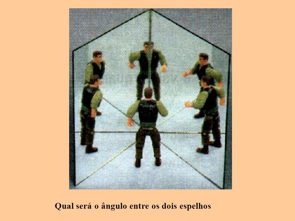 Qual será o ângulo entre os dois espelhos