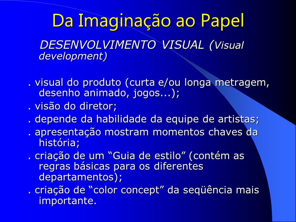 Da Imaginação ao Papel DESENVOLVIMENTO VISUAL (Visual development)