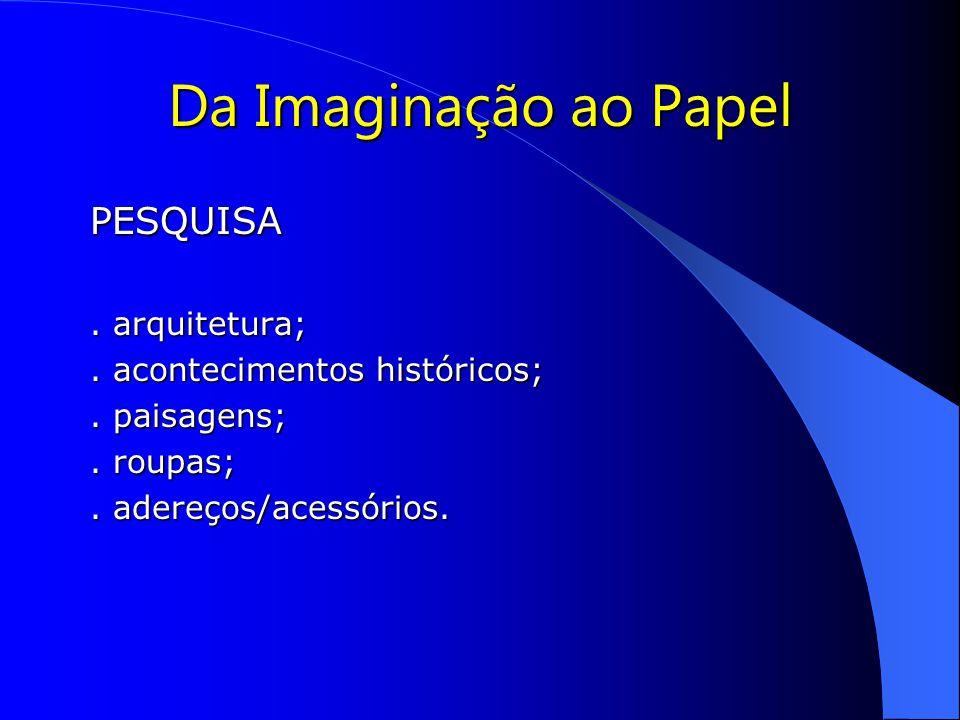 Da Imaginação ao Papel PESQUISA . arquitetura;