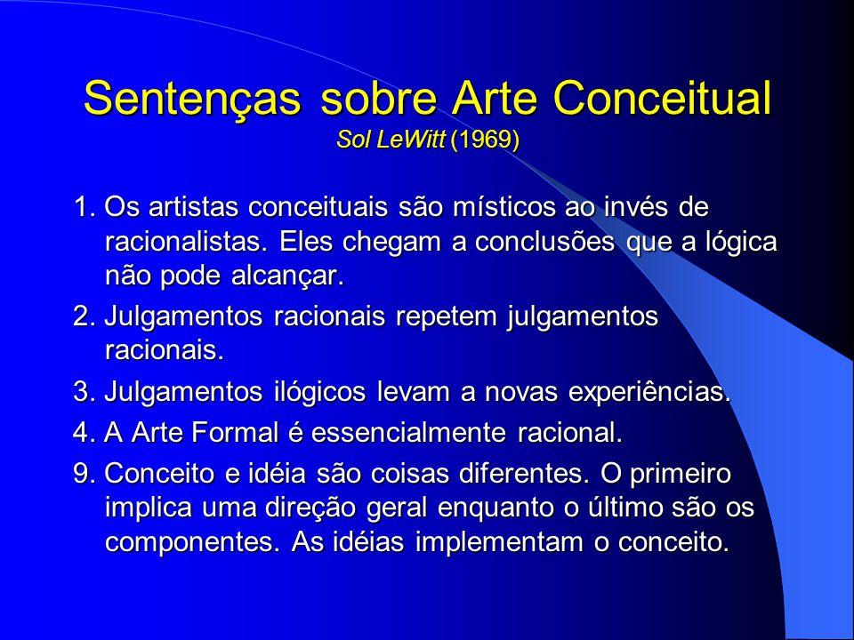 Sentenças sobre Arte Conceitual Sol LeWitt (1969)