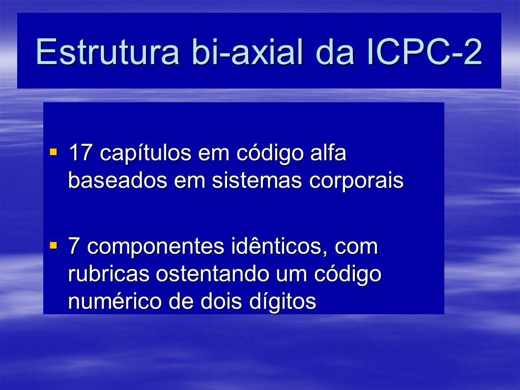 Estrutura bi-axial da ICPC-2