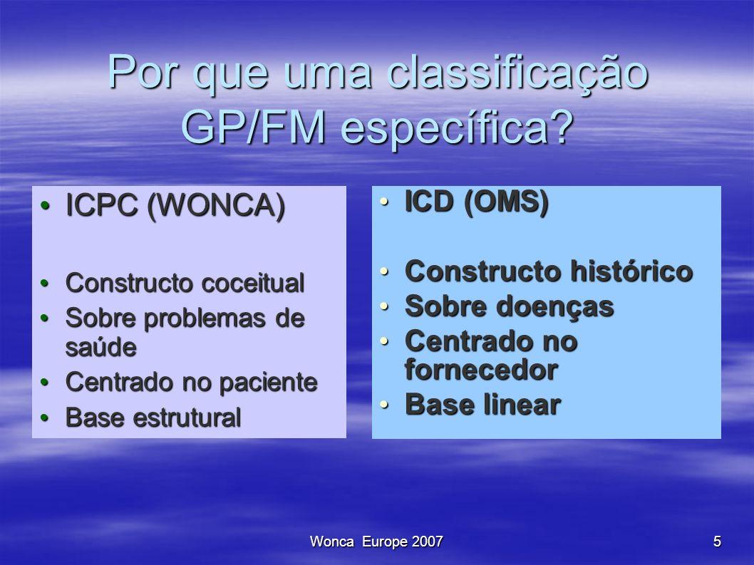 Por que uma classificação GP/FM específica