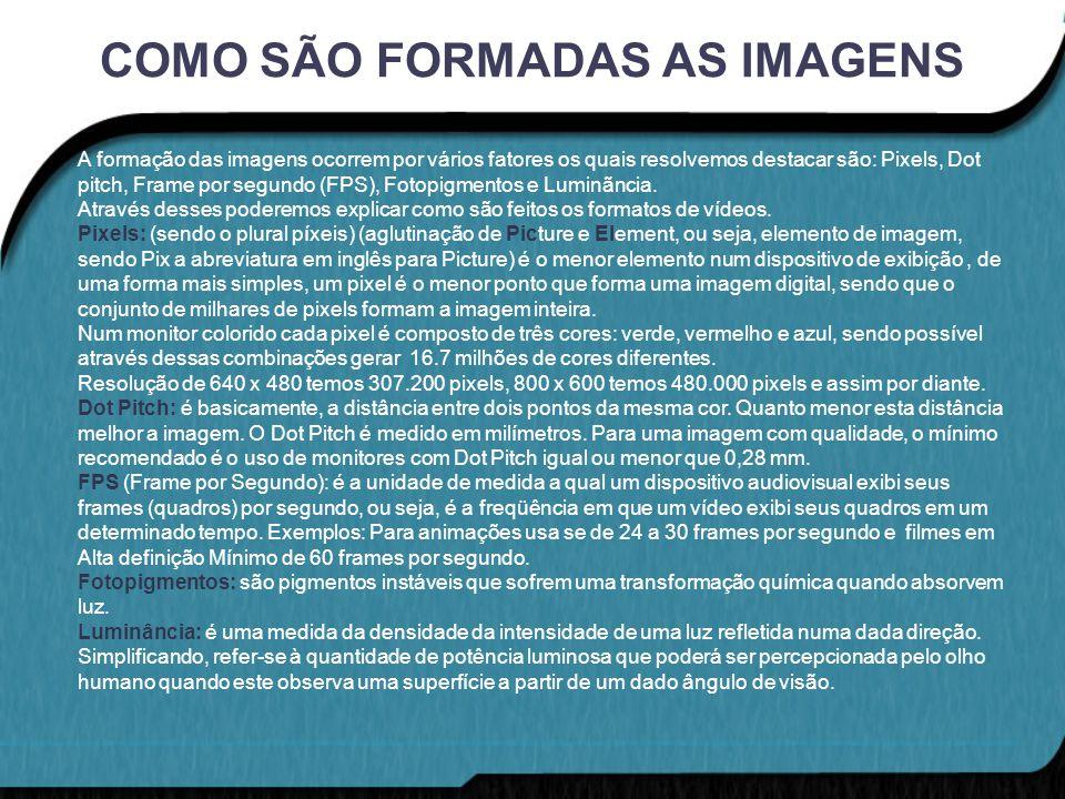 COMO SÃO FORMADAS AS IMAGENS