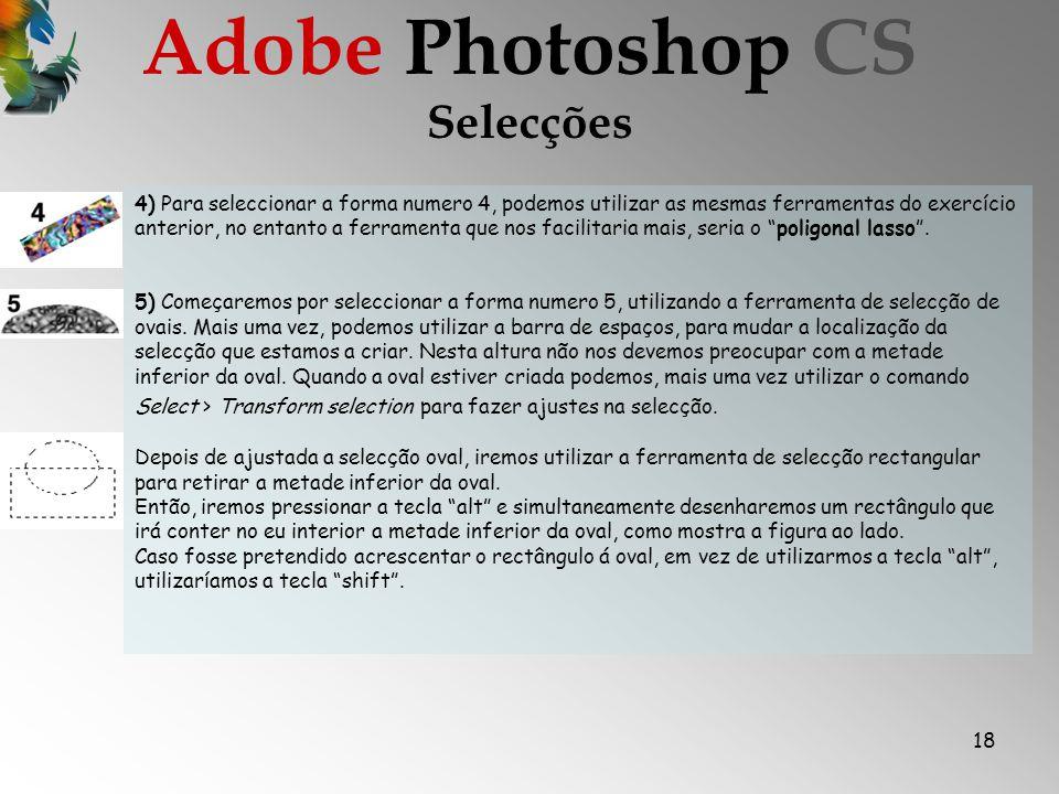 Adobe Photoshop CS Selecções