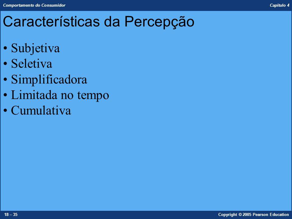 Características da Percepção