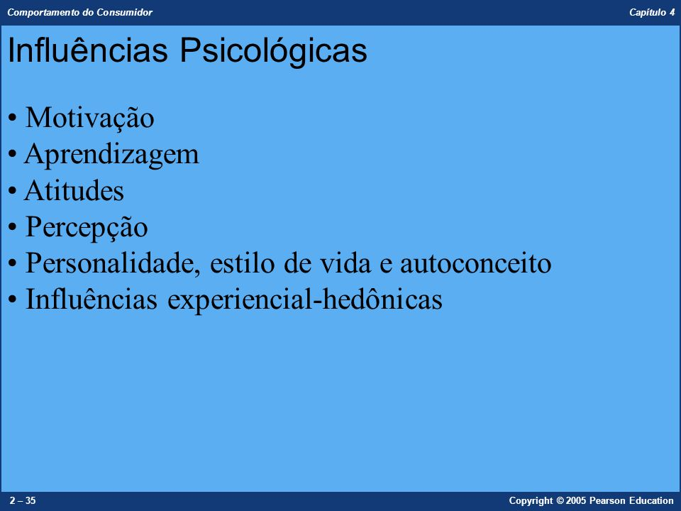 Influências Psicológicas