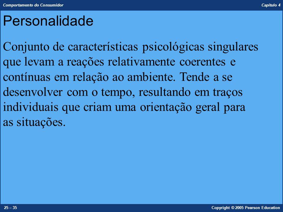 Personalidade Conjunto de características psicológicas singulares