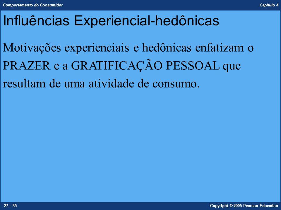 Influências Experiencial-hedônicas