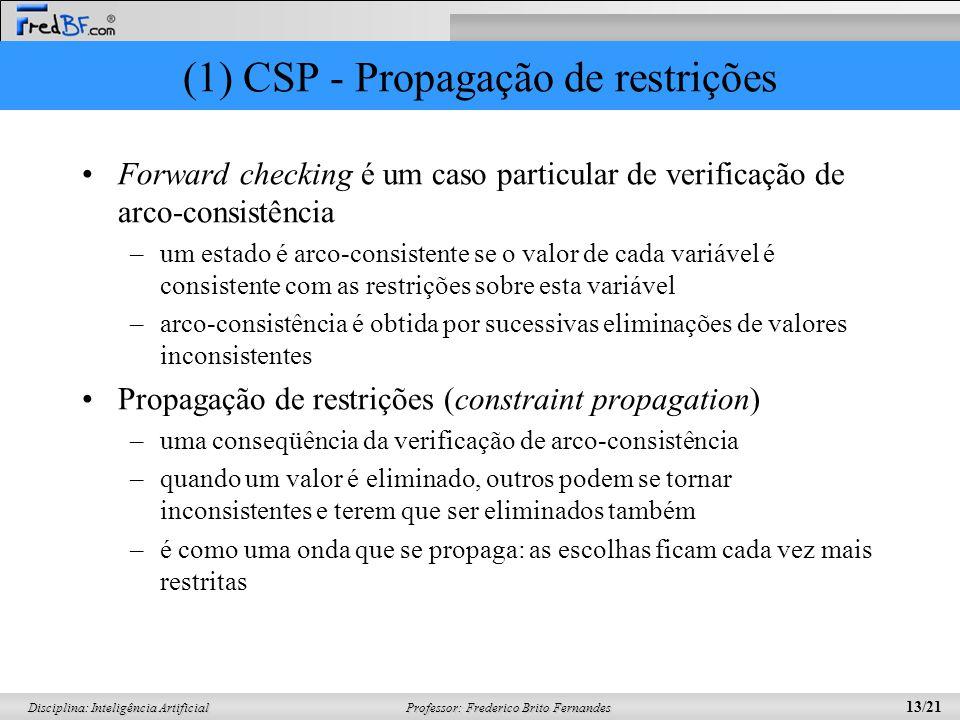 (1) CSP - Propagação de restrições