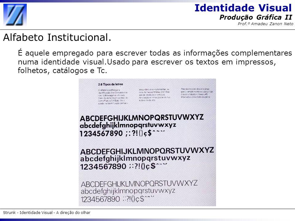 Alfabeto Institucional.