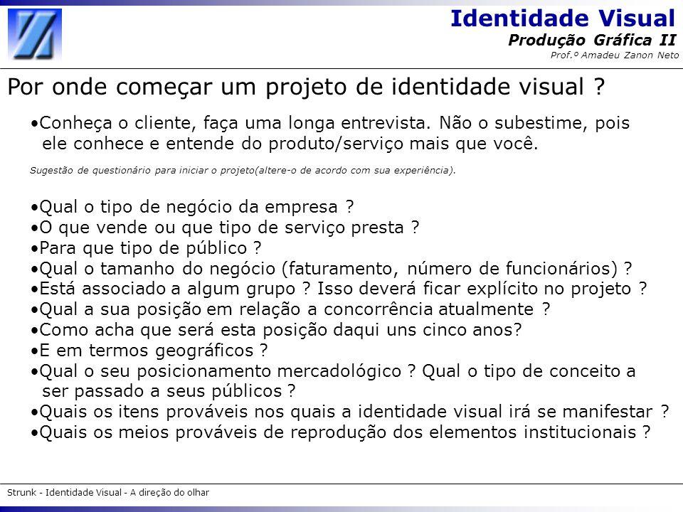 Por onde começar um projeto de identidade visual