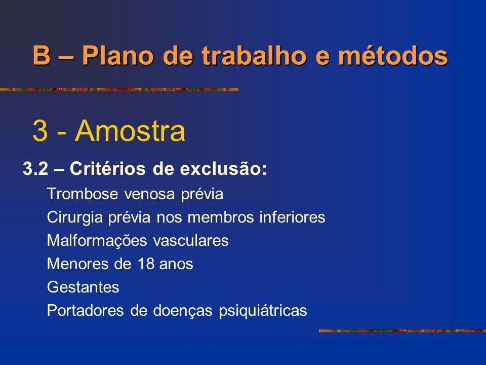 3 - Amostra B – Plano de trabalho e métodos