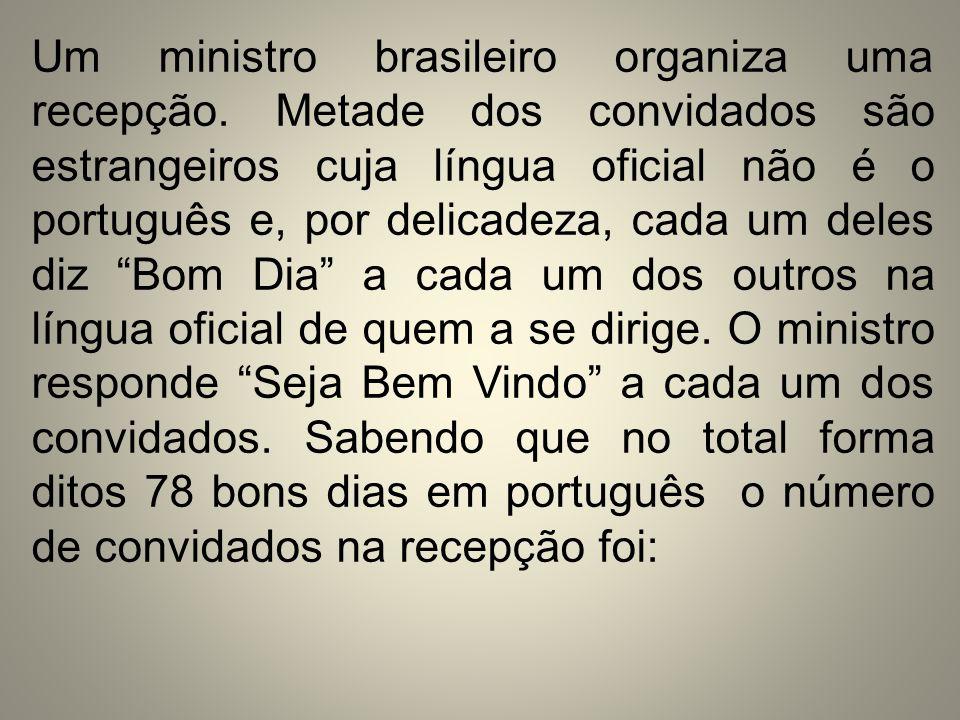 Um ministro brasileiro organiza uma recepção