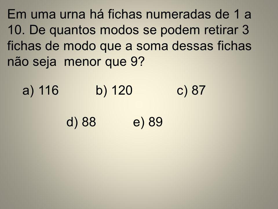 Em uma urna há fichas numeradas de 1 a 10