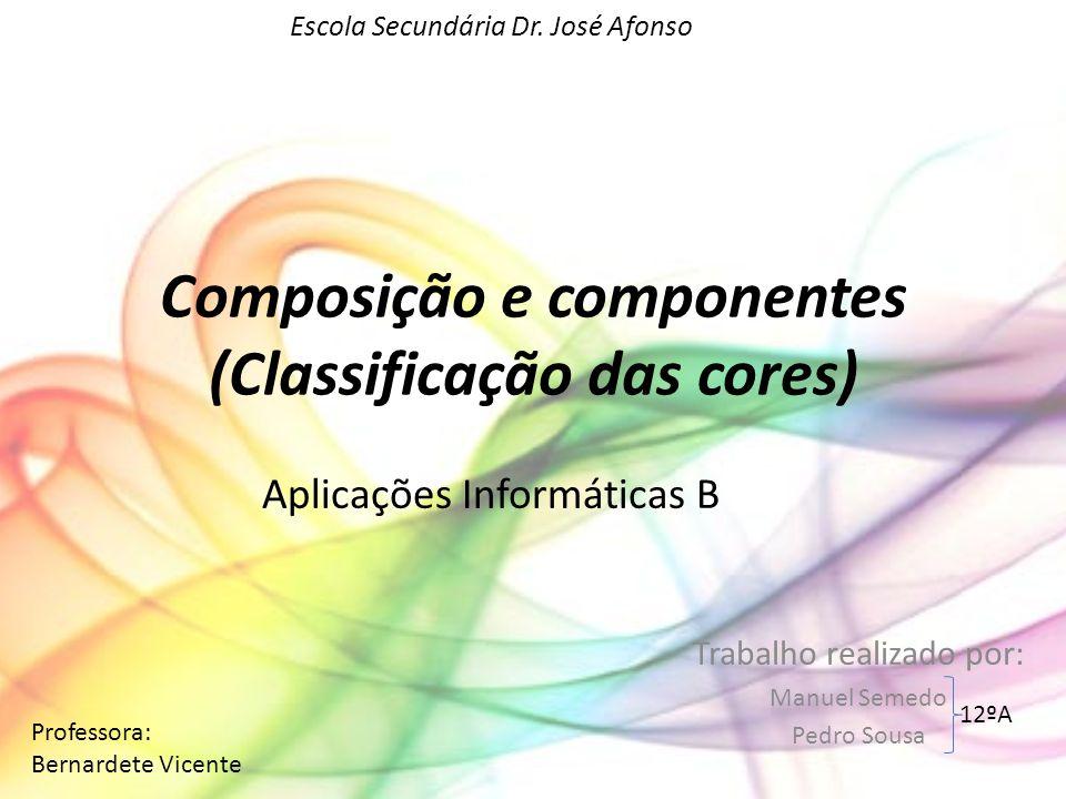 Composição e componentes (Classificação das cores)
