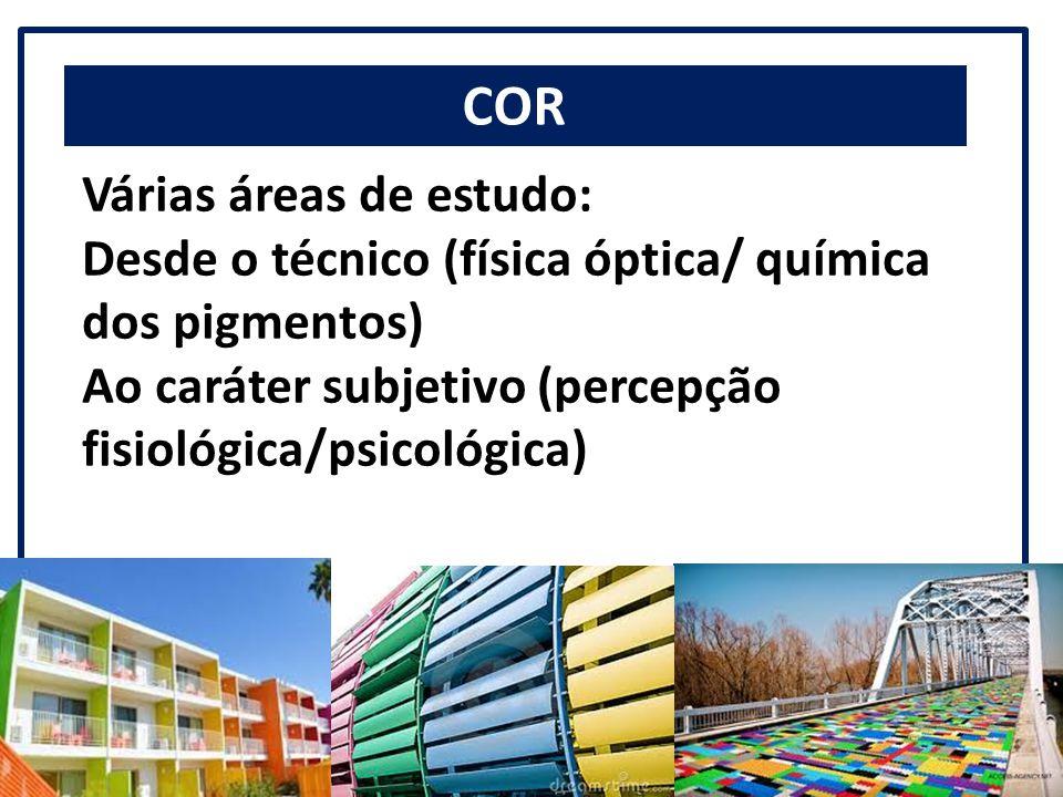 COR Várias áreas de estudo: