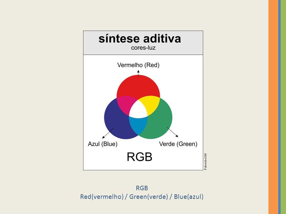 Red(vermelho) / Green(verde) / Blue(azul)